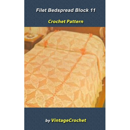 Filet Block 11 Bedspread Vintage Crochet Pattern - eBook](Pattern Block Printables Halloween)