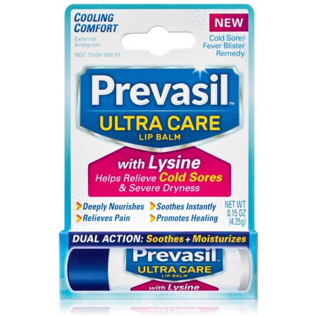 Prevasil Ultra Care Lip Balm with Lysine - Cold Sore & Fever Blister Dual Action Treatment - 0.15