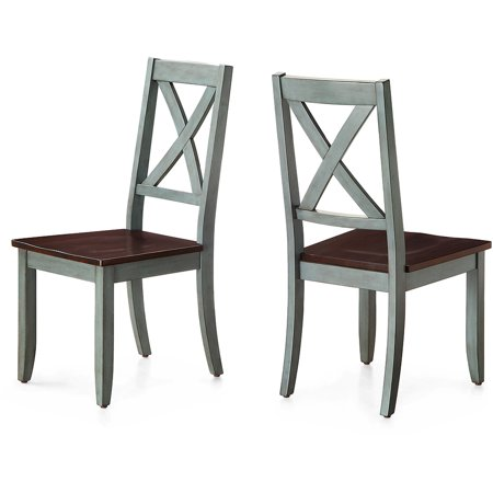 lowest price d928c 77095 Better Homes and Gardens Maddox Crossing Dining Chair, Blue (Set of 2)