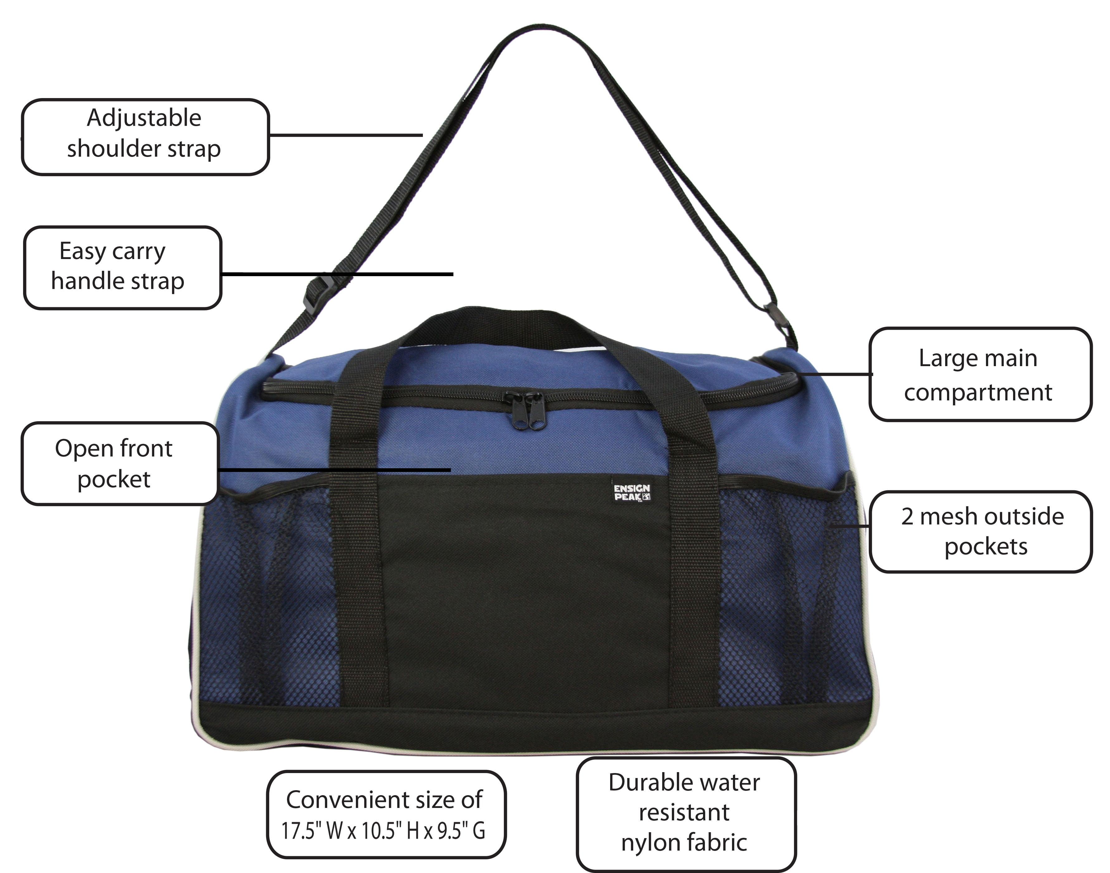 Ensign Peak Everyday Duffel Bag with Adjustable Shoulder Strap and Mesh  Pockets - Walmart.com 1358f3a34e0d6