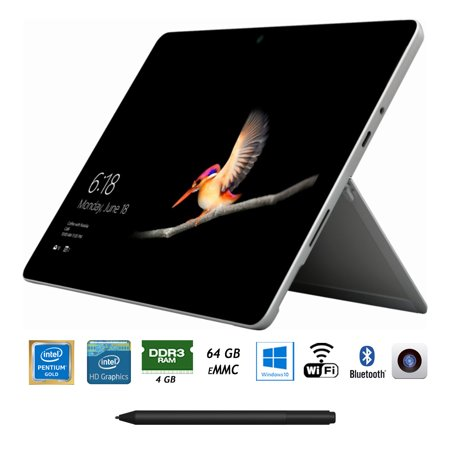 Microsoft MHN-00001 Surface Go 10-inch 64GB Intel Pentium Gold 4415Y Tablet Computer Bundle with Microsoft Surface Pen