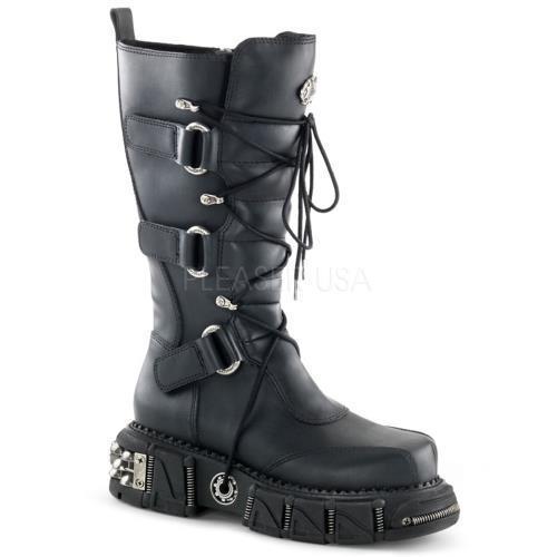 DMA3005 BPU Demonia Vegan Boots Unisex Blk Pu Size: 8 by