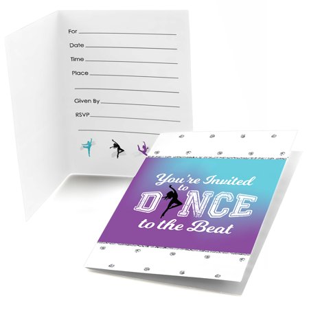 Must Dance to the Beat - Dance - Fill In Birthday Party or Dance Party Invitations (8 count) (Party City Beads)