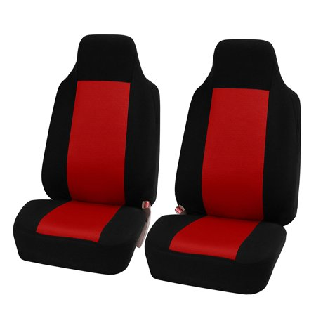FH Group 3D Air-mesh Car Seat Covers, Front Set, Red and