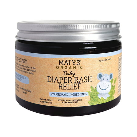 Maty's Organic Baby Diaper Rash Relief, 10 Oz (Best Organic Diaper Rash Cream)