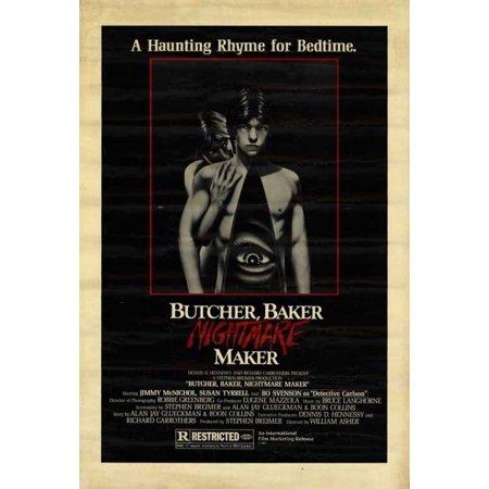 Butcher Baker Nightmare Maker Movie Poster Print  27 X 40