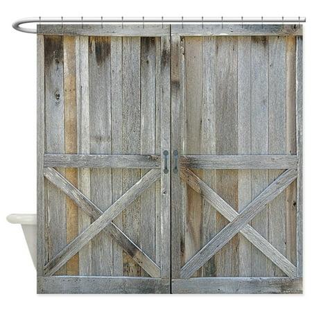 CafePress - Old Rustic Barn Door - Unique Cloth Shower Curtain ()