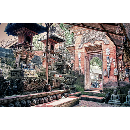 Canvas Print Tourism Asia Indonesian Traditions Family Bali Stretched Canvas 10 x 14 - Asian Halloween Traditions