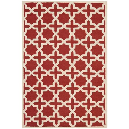 Safavieh Cambridge 4' X 6' Hand Tufted Wool Rug in Rust and Ivory - image 6 de 8