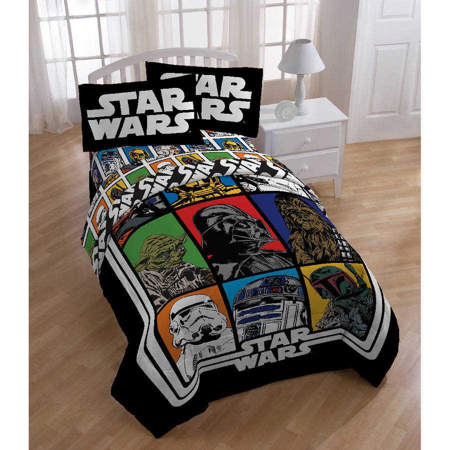 Charming Star Wars Bed In A Bag 5 Piece Twin Bedding Set With BONUS Tote    Walmart.com