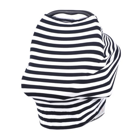 Nursing Breast Feeding Cover, Multi-Use Stretchy Infinity Scarf Shopping Baby Car Seat Canopy Shopping Cart, Stroller, Carseat Covers for Girls and