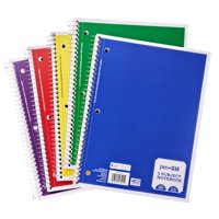 Pen + Gear 3-Subject Notebook, Wide Ruled, 120 Sheets, 10.5 in x 8 in