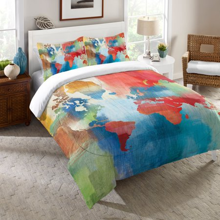 Laural home colorful world map comforter walmart laural home colorful world map comforter gumiabroncs Image collections
