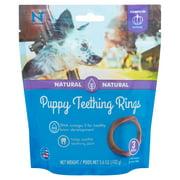 N-Bone Natural Pumpkin Flavor Puppy Teething Rings, 3 count, 3.6 oz