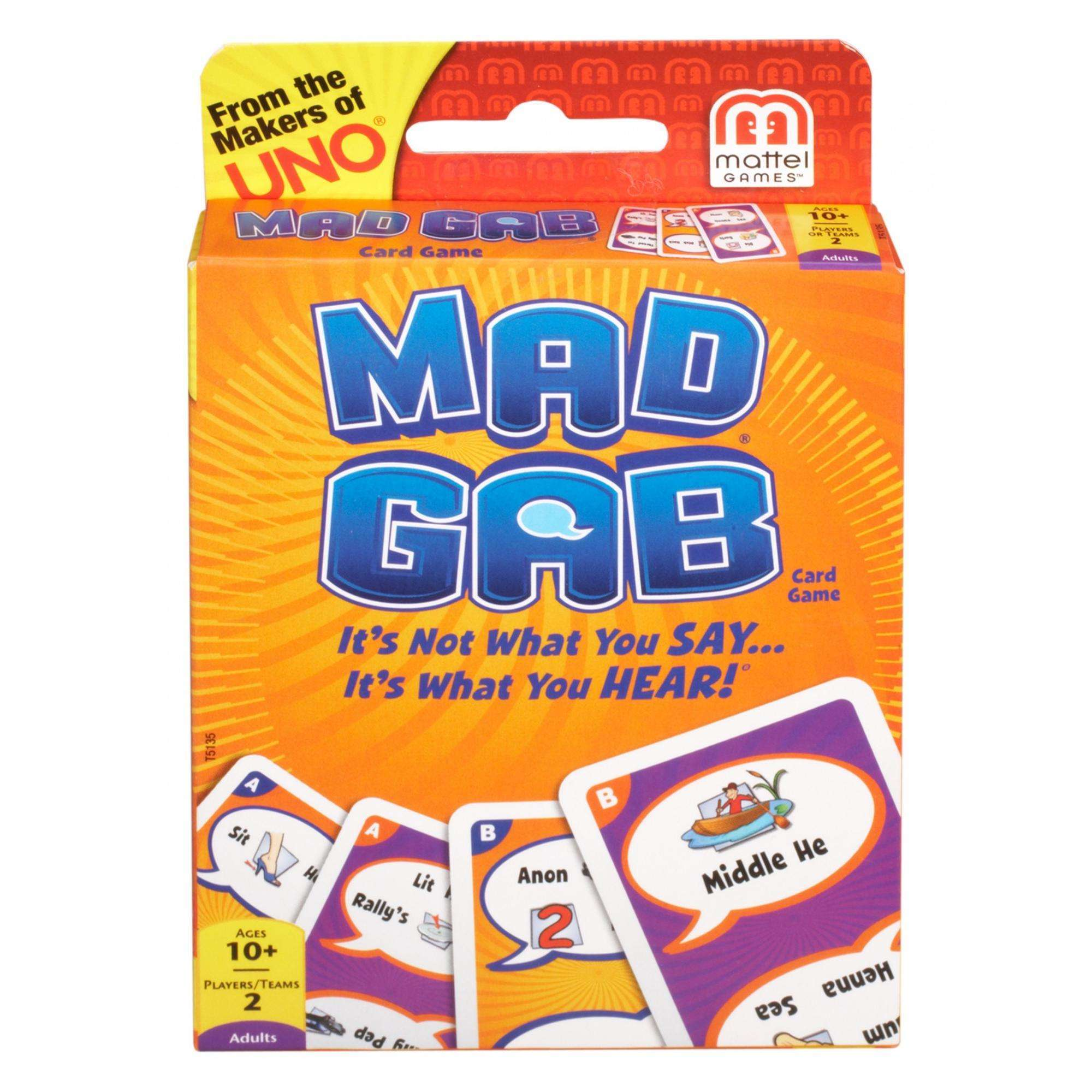 Mad Gab Card Game- It's Not What You Say, It's What You Hear!