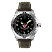US Air Force Leather Bezel Watch