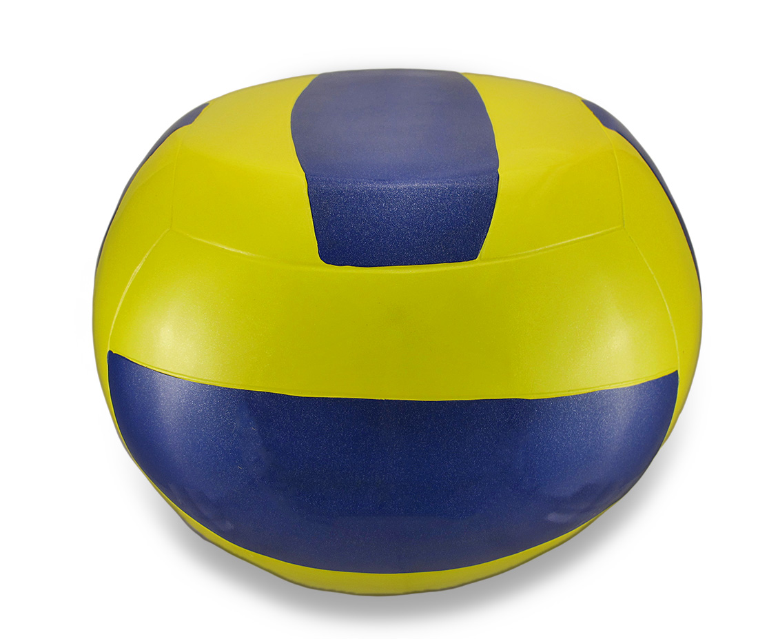 Yellow and Blue Volleyball Stool Child`s Sport Chair by King Max