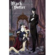 Black Butler Sebastian and Ciel with Skulls 36x24 Anime Art Print Poster Japanese Animated Series Show