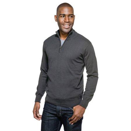 - Tri-Mountain Men's Rib Knit Collar Zipper Placket Sweater