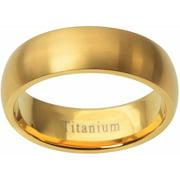 Men's Polished Titanium Fashion Ring, 8mm
