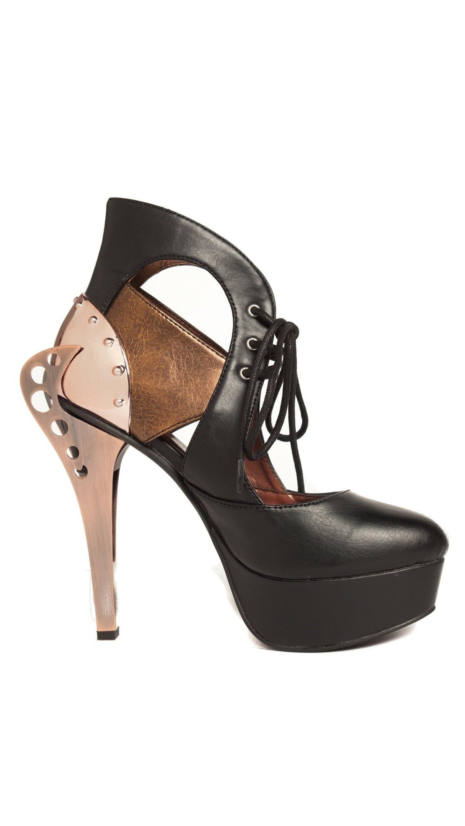 Hades Shoes sandals H-ASMARA 1 platform two toned sandals Shoes 11 / Black 5f5dbe