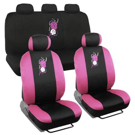 bdk hawaiian design car seat covers full set universal. Black Bedroom Furniture Sets. Home Design Ideas
