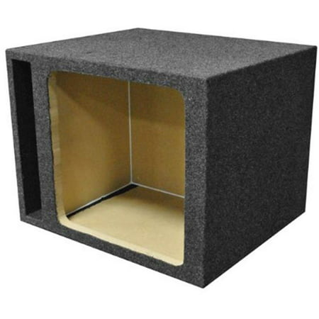 15 in. Single Square Vented Subwoofer Enclosure Box, Charcoal