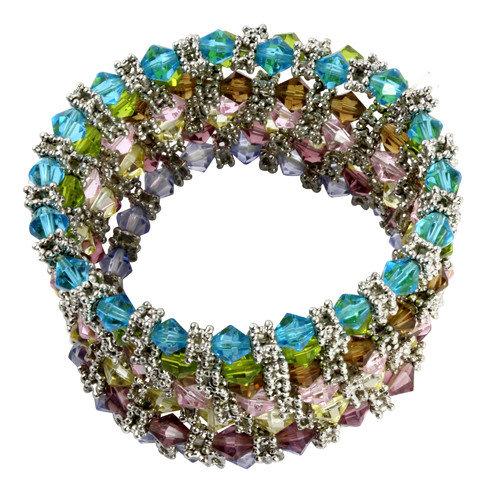 Palm Beach Jewelry Crystal Beaded Bracelet (Set of 7)