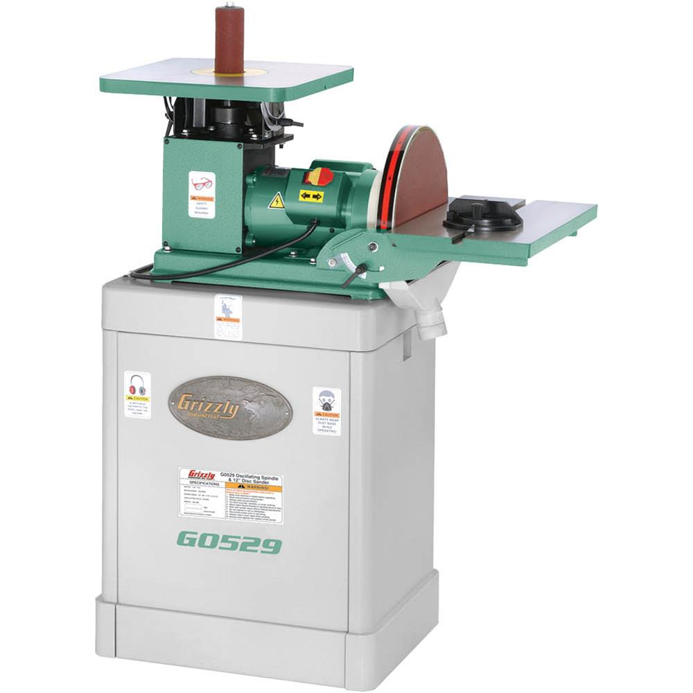 "Grizzly G0529 Oscillating Spindle   12"" Disc Sander by"