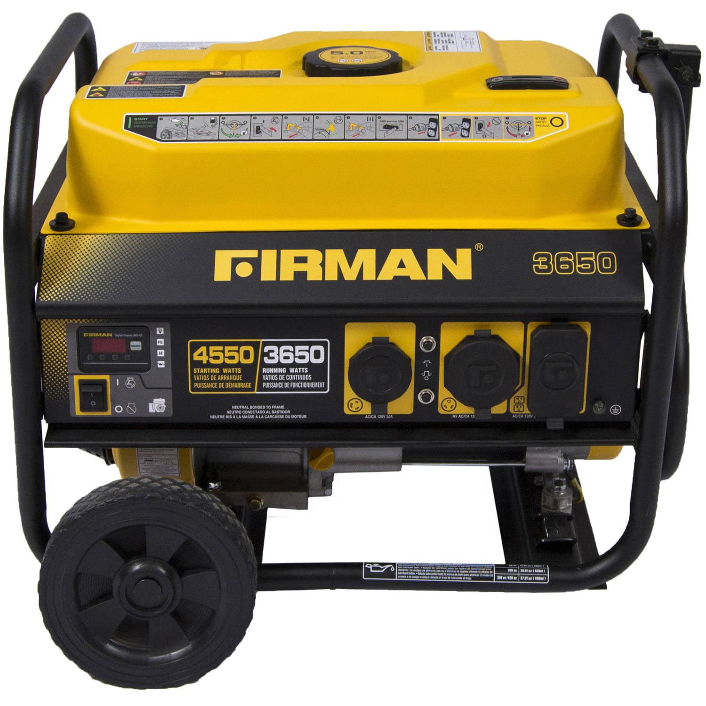 Firman P Portable Generator 3650 4550 Watt Gas Powered with