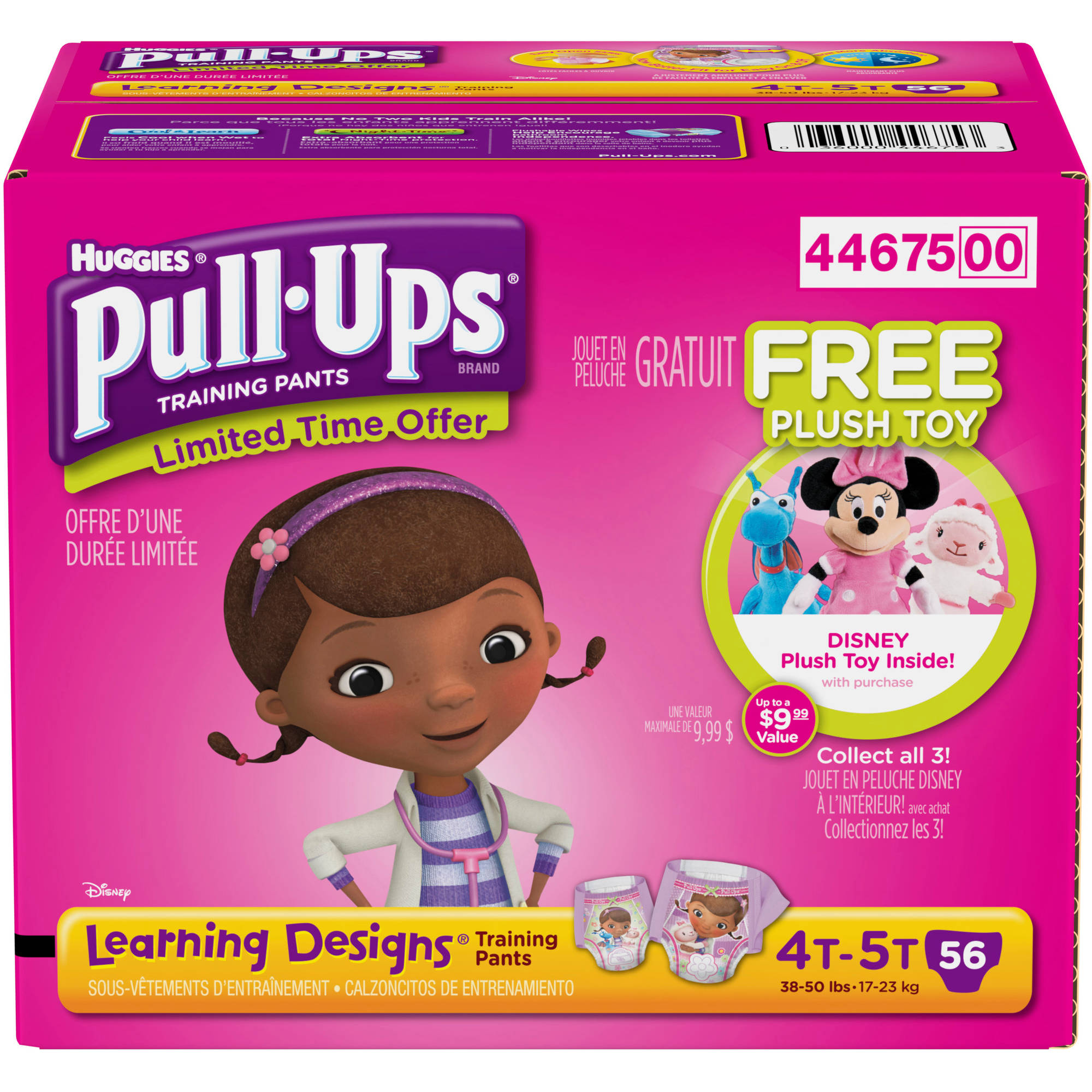 HUGGIES Pull-Ups Girls' Learning Designs Training Pants, Super Pack (Choose Your Size)