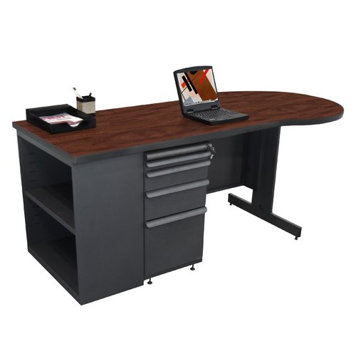 Marvel Office Furniture Zapf Bookcase Peninsula Computer Desk