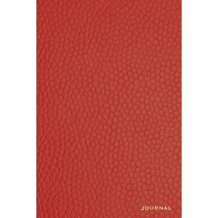 Journal : 120 Blank Lined Pages, 6x9 College Ruled Notebooks and Journals, Red Leather Style Paperback Designer Journal, Diary, Notebook - Leather Boot Covers