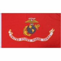 Red US MARINE CORPS Flag with USMC Emblem 3' x 5'
