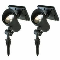 Best Solar Light Outdoor Solar LED Filament-Style Path Lights, Weatherproof Metal Light, 10X Brightness, 3000K, 2-Pack