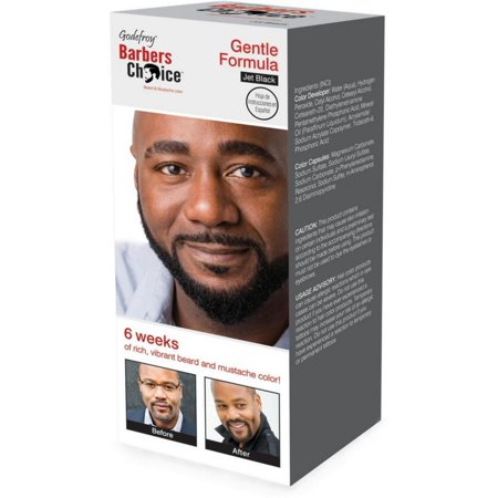 Godefroy Barbers Choice 3 Application Beard and Mustache Color, Jet Black 1 ea](Mustache And Beard)