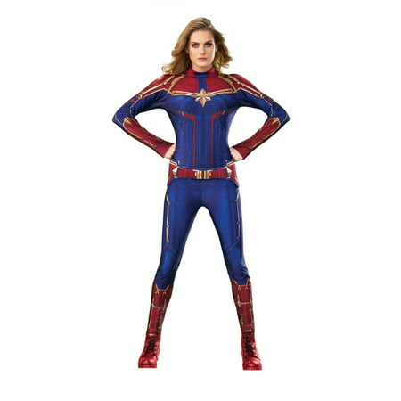 Halloween Captain Marvel Hero Suit Adult Costume (Blue Morph Suits)
