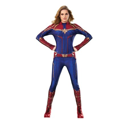 Halloween Captain Marvel Hero Suit Adult Costume (Captain Marvel Halloween Costumes)