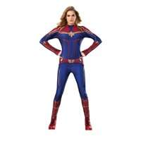 Halloween Captain Marvel Hero Suit Adult Costume