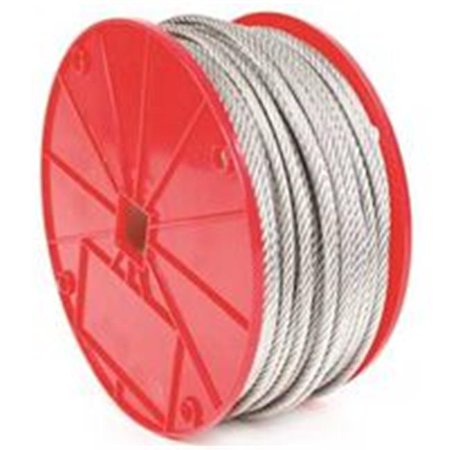 Koch 0387928 Aircraft Cable, 0.375 in. dia. x 250 ft., 2880 lbs