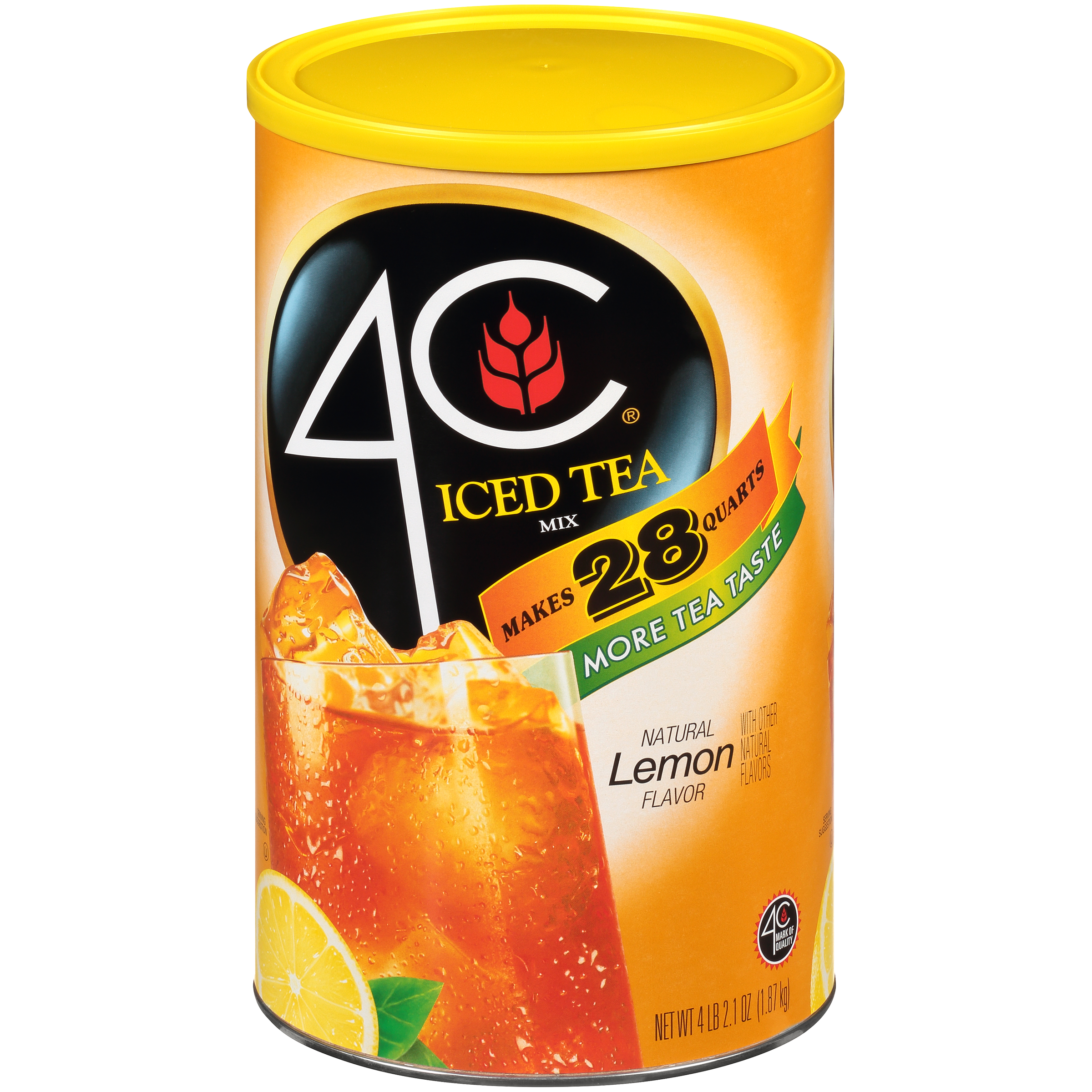 4c Drink Mix Lemon Iced Tea 74 2 Oz 1 Count Walmart Com Walmart Com