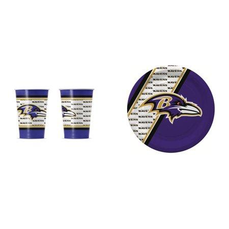 Baltimore Ravens 20 Pc Disposable Paper Plates And 20 Pc Disposable Paper Cups Baltimore Orioles Home Plate