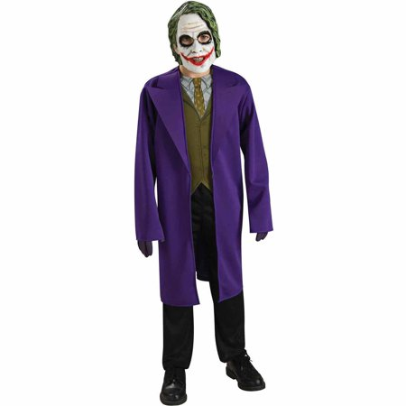 Batman Dark Knight The Joker Tween Halloween - Dark Knight Joker Costumes