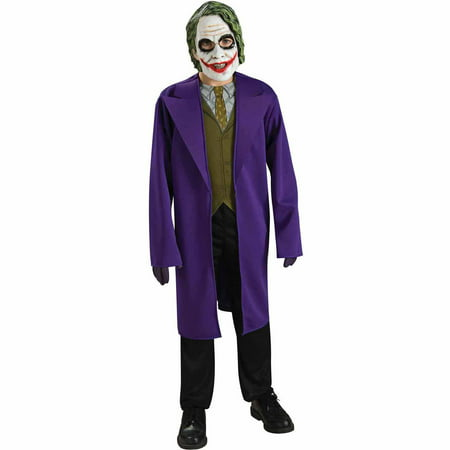 Batman Dark Knight The Joker Tween Halloween Costume - Joker Costume Halloween