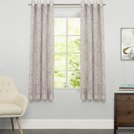 Floral Toile Drapes (Toile Lace Grommet Floral Window Curtain Single Panel 63
