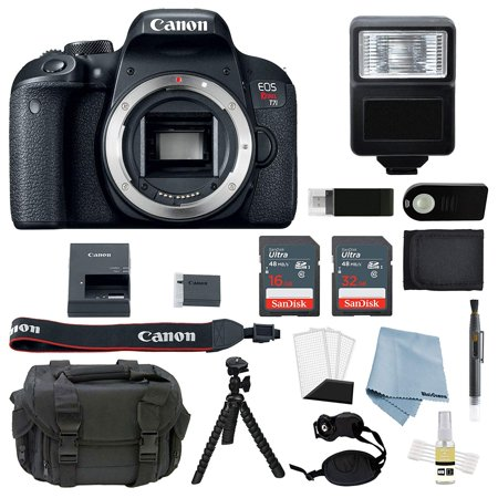 Canon EOS Rebel T7i Body Only + Advanced Accessory Bundle
