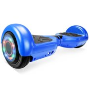"""UL 2272 Certificated 6.5"""" Self Balancing Hoverboard Scooter w/ Bluetooth Speaker - Matte Blue"""