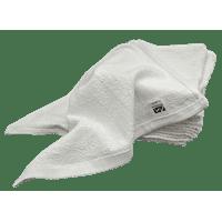 12 Inch x 12 Inch White Cotton Value Washcloths - Reusable Lt Weight Thin Cloth Rags - Bath/Exfoilating/Kitchen/Garage - 1 Lb per Dozen - Set of 24