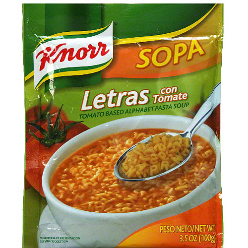 Knorr Tomato Based Alphabet Pasta Soup Mix, 3.5 oz (Pack of 12)
