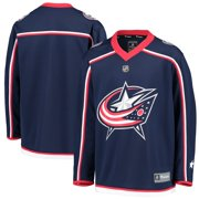 Columbus Blue Jackets Fanatics Branded Youth Home Replica Blank Jersey - Navy
